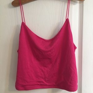A size Small pink cropped tank top from Garage